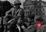Image of American soldiers Pilsen Czechoslovakia, 1945, second 42 stock footage video 65675077027