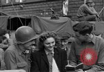 Image of American soldiers Pilsen Czechoslovakia, 1945, second 46 stock footage video 65675077027