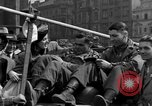 Image of American soldiers Pilsen Czechoslovakia, 1945, second 57 stock footage video 65675077027