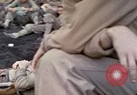 Image of wounded Marine Iwo Jima, 1945, second 13 stock footage video 65675077474