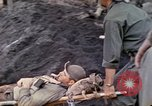 Image of wounded Marine Iwo Jima, 1945, second 14 stock footage video 65675077474