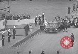 Image of St Lawrence Seaway opening ceremony speakers St Lambert Quebec Canada, 1959, second 34 stock footage video 65675078226