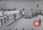 Image of St Lawrence Seaway opening ceremony speakers St Lambert Quebec Canada, 1959, second 35 stock footage video 65675078226