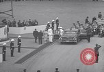 Image of St Lawrence Seaway opening ceremony speakers St Lambert Quebec Canada, 1959, second 39 stock footage video 65675078226