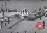 Image of St Lawrence Seaway opening ceremony speakers St Lambert Quebec Canada, 1959, second 40 stock footage video 65675078226